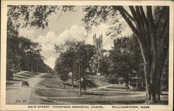 Main Street and Thompson Memorial Chapel