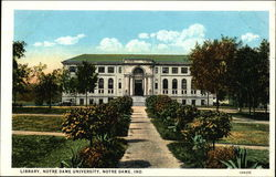 Library, Notre Dame University Postcard