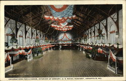 Decoration for a Dance, Interior of Armory, U. S. Naval Academy