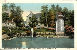 Whitlock Light, St. Croix River, Near Calais Maine and St. Stephen, N. B.