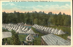 A Tent St. at Military Training Camp