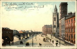 Overhead Electric Railway and St. Nicholas Street Postcard