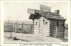 Souvenir and Book Shop at North Entrance to Shenandoah National Park