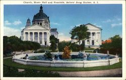 Church, Music Hall and Fountain, Sailors' Snug Harbor