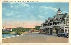 Casino, Bridge and Bay of Naples Inn Postcard