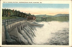 Dam at Power Station, Androscoggin River