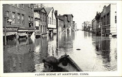 Flood Scene in Business Area