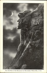 The Old Man of the Mountain by Moonlight