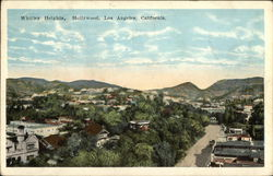 Bird's Eye View of Whitley Heights, Hollywood