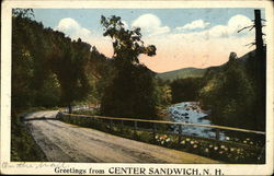 Greetings from Center Sandwich, N. H.