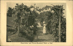 Rose Arbor and Flower-Bordered Walk to Sunset Hall