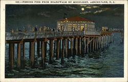Fishing Pier from Boardwalk by Moonlight