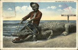 """The Home Stretch"" - Black Child Riding Alligator"