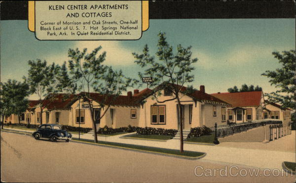 Klein Center Apartments and Cottages Hot Springs Arkansas