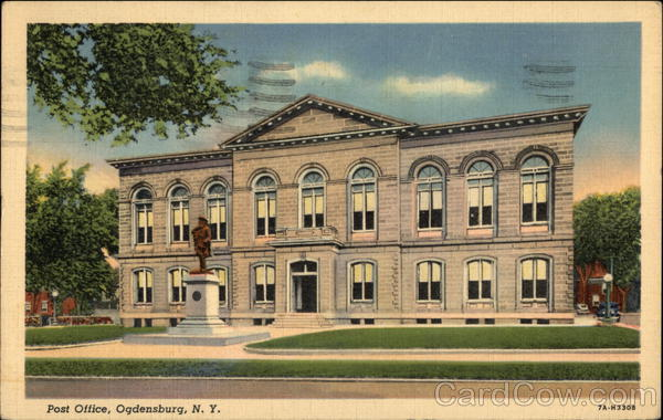 Street View of Post Office Ogdensburg New York