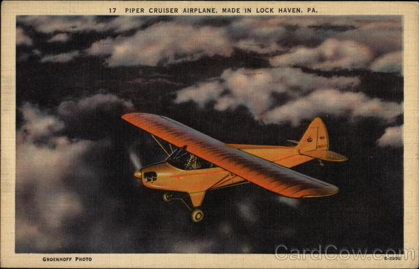 Piper Cruiser Airplane, Made in Lock Haven, PA Aircraft