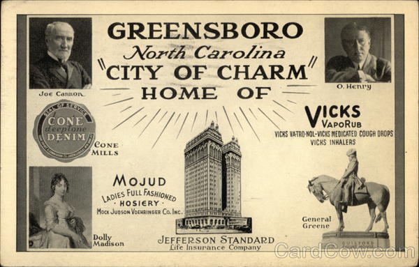 Greensboro North Carolina City of Charm