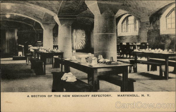 A Section of the New Seminary Refectory Maryknoll New York