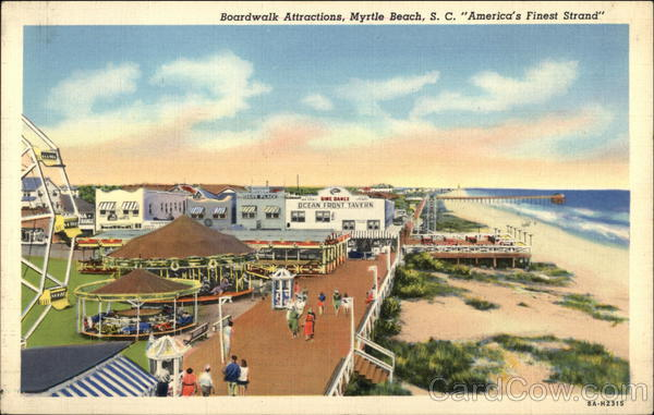 Boardwalk Attractions, Myrtle Beach, S.C. South Carolina