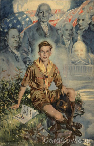 1937 Jamboree The Boy Scout has been Reading the Constitution...