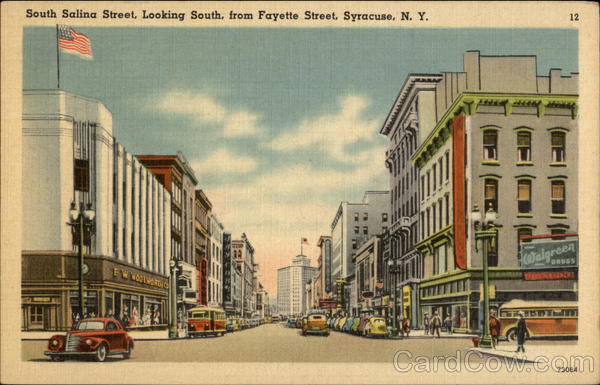 South Salina Street, Looking South from Fayette Street Syracuse New York