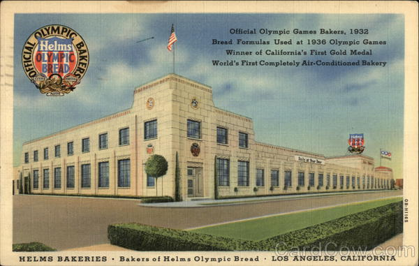 Helms Bakeries, Bakers of Helms Olympic Bread Los Angeles California