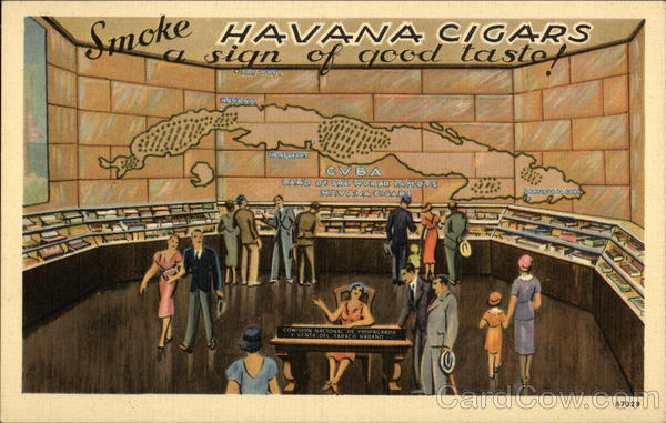 Smoke Havana Cigars - A Sign of Good Taste! Advertising