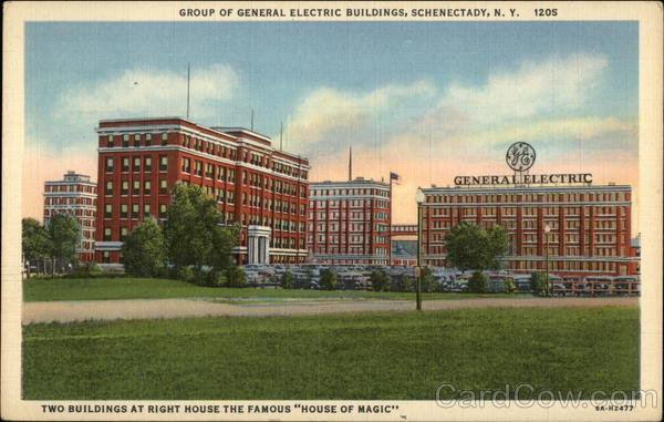 Group of General Electric Buildings - Two Buildings at right house the Famous House of Magic Schenectady