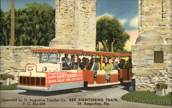 Red Sightseeing Train St. Augustine Florida