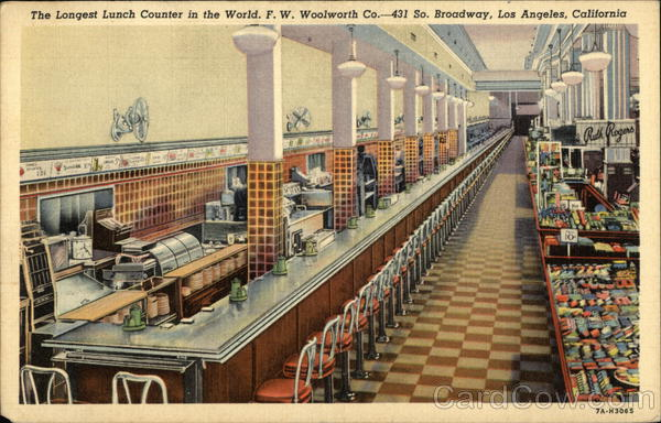 F. W. Woolworth Co. - Lunch Counter Los Angeles California