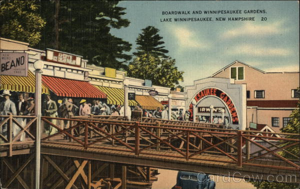 Boardwalk and Winnipesaukee Gardens Lake Winnipesaukee New Hampshire