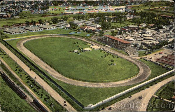 Aerial View of State Fair Grounds Huron South Dakota