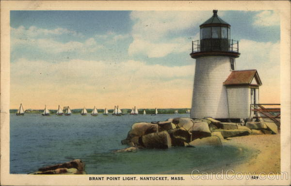 Water View at Brant Point Light Nantucket Massachusetts