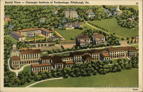 Aerial View - Carnegie Institute of Technology Pittsburgh Pennsylvania