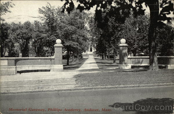 Memorial Gateway, Phillips Academy Andover Maine