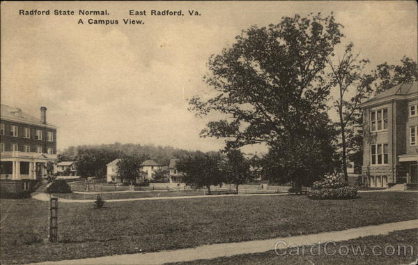 Radford State Normal School - A Campus View East Radford Virginia