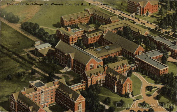 Florida State College for Women from the Air Tallahassee