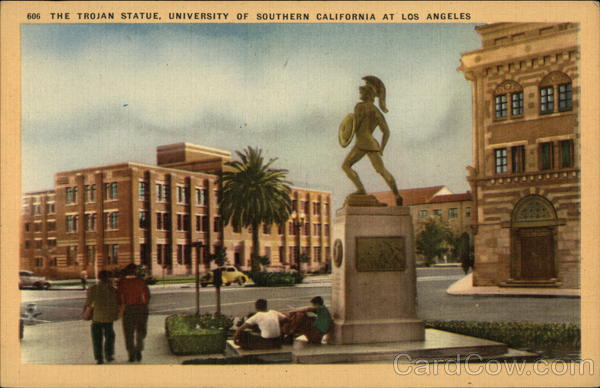 University of Southern California - The Trojan Statue Los Angeles