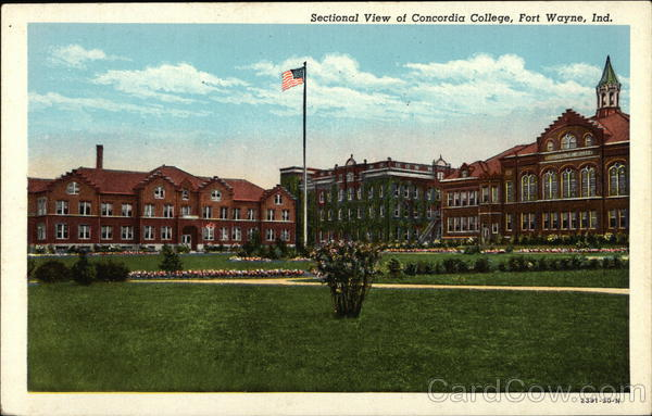 Sectional View of Concordia College Fort Wayne Indiana