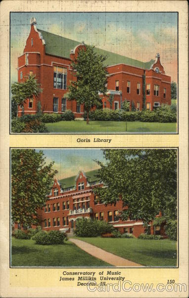 Gorin Library and Conservatory of Music, James Millikin University Decatur Illinois
