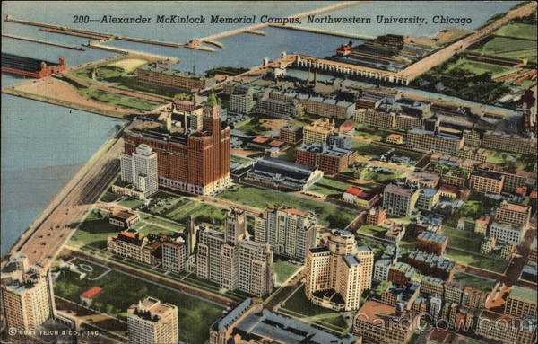 Alexander McKinlock Memorial Campus, Northwestern University Chicago Illinois