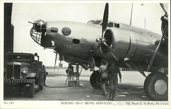Boeing YB-017 Being Serviced World War II