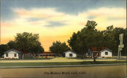 The Modern Motel, Lodi, California Postcard