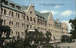 The Abbey, St. Benedict's College Postcard