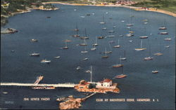 Aerial View of Ida Lewis Yacht Club at Brenton's Cove