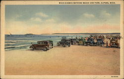 Mich. E. Kewis Bathing Beach and Park Postcard