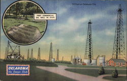 Oklahoma-The Sooner State, Oil Fields at Oklahoma City, First Commercial Oil Well in State