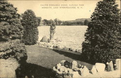 Calvin Coolidge Stone, Clough Park at Lake Winnipesaukee