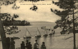 Water View of Sail Boats at Luther Gulick Camps Postcard