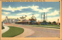 General View of Amusement Center and Coaster